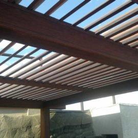 крыша перголы из мербау