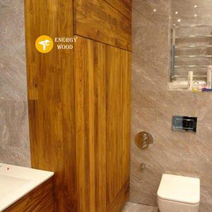 шкаф в ванной, высокий из тика