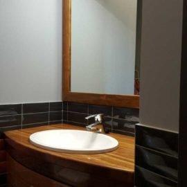 тумба с зеркалом в ванную