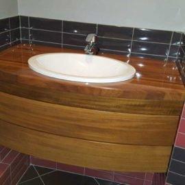 навесная тумба под ванную